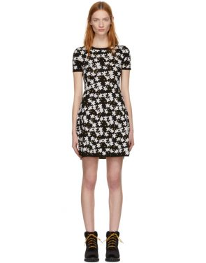 photo Black Fit and Flare Flower Dress by Kenzo - Image 1