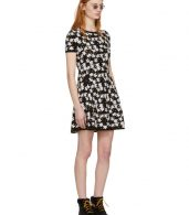 photo Black Fit and Flare Flower Dress by Kenzo - Image 4