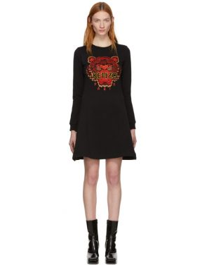 photo Black Limited Edition Chinese New Year Tiger Sweatshirt Dress by Kenzo - Image 1