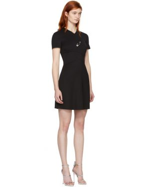 photo Black Cross Over Safety Pin Dress by Versus - Image 2