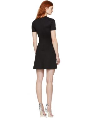 photo Black Cross Over Safety Pin Dress by Versus - Image 3