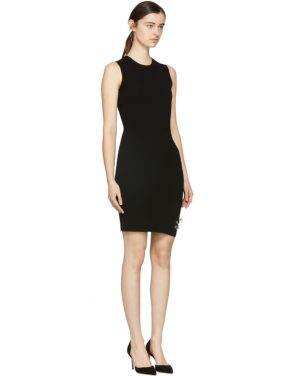 photo Black Bodycon Safety Pin Dress by Versus - Image 2
