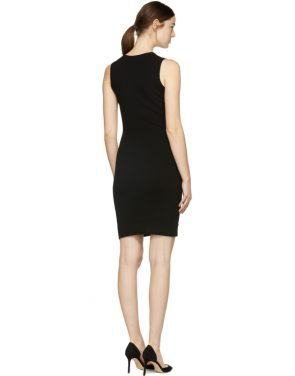 photo Black Bodycon Safety Pin Dress by Versus - Image 3