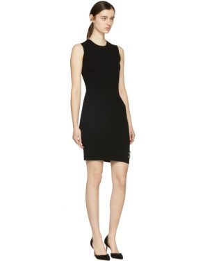 photo Black Bodycon Safety Pin Dress by Versus - Image 4