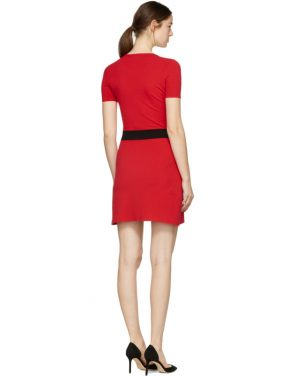 photo Red Bodycon Logo Dress by Versus - Image 3