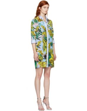 photo Multicolor Palms Shirt Dress by Versace - Image 2