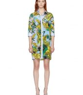 photo Multicolor Palms Shirt Dress by Versace - Image 1