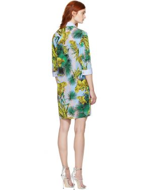 photo Multicolor Palms Shirt Dress by Versace - Image 3