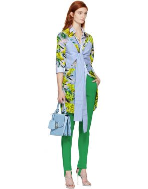 photo Multicolor Palms Shirt Dress by Versace - Image 5