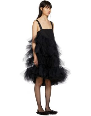 photo Black Tulle Multiple Ruffles Dress by Simone Rocha - Image 2
