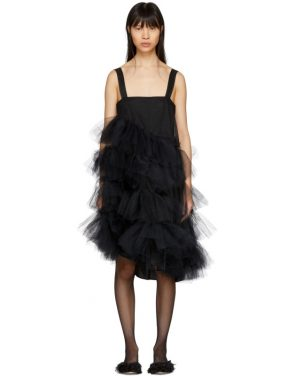 photo Black Tulle Multiple Ruffles Dress by Simone Rocha - Image 1