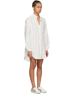 photo White Oversized Shirt Dress by Saint Laurent - Image 2