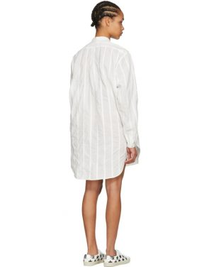 photo White Oversized Shirt Dress by Saint Laurent - Image 3