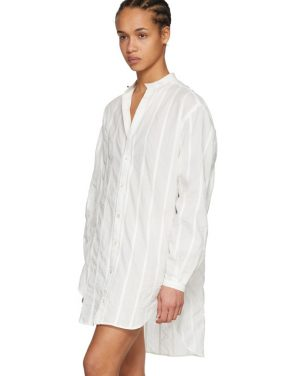 photo White Oversized Shirt Dress by Saint Laurent - Image 4
