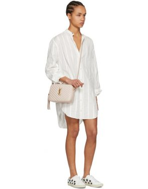 photo White Oversized Shirt Dress by Saint Laurent - Image 5