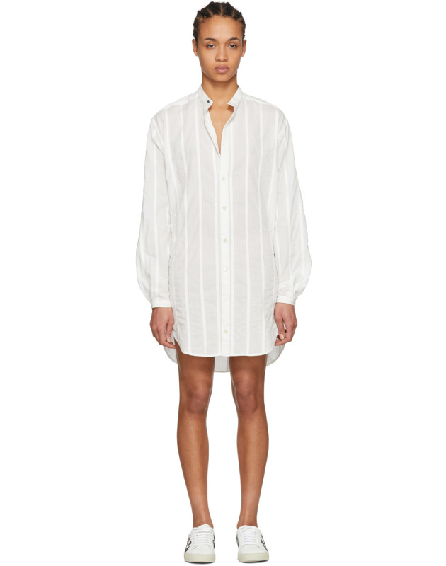 photo White Oversized Shirt Dress by Saint Laurent - Image 1