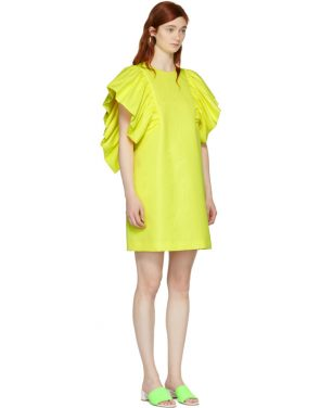 photo Yellow Ruffled Dress by MSGM - Image 2