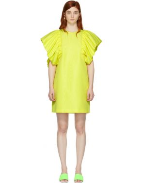 photo Yellow Ruffled Dress by MSGM - Image 1