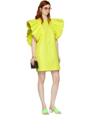 photo Yellow Ruffled Dress by MSGM - Image 5