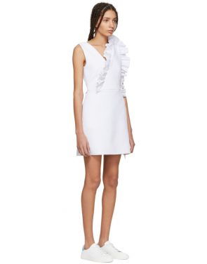 photo White Ruffles Dress by MSGM - Image 2