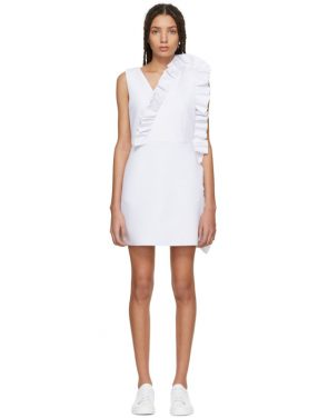 photo White Ruffles Dress by MSGM - Image 1