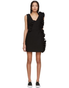 photo Black Ruffles Dress by MSGM - Image 1