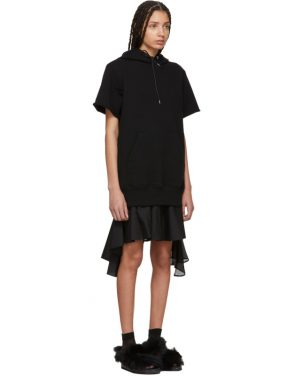 photo Black Sweatshirt Dress by Sacai - Image 2