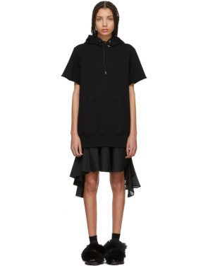 photo Black Sweatshirt Dress by Sacai - Image 1