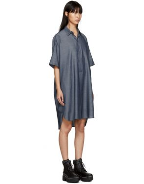 photo Indigo Long Mens Shirt Dress by 6397 - Image 2