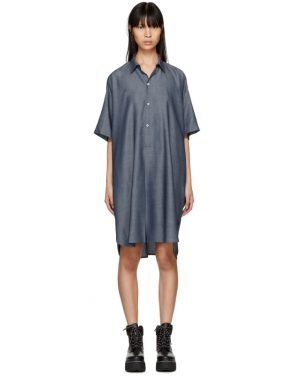 photo Indigo Long Mens Shirt Dress by 6397 - Image 1