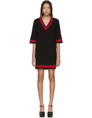 photo Black Jersey V-Neck Dress by Gucci - Image 1
