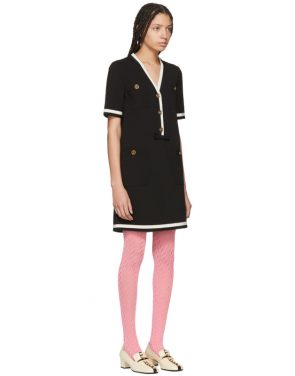 photo Black Striped Piping Dress by Gucci - Image 2