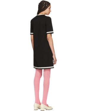 photo Black Striped Piping Dress by Gucci - Image 3