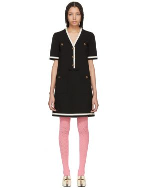 photo Black Striped Piping Dress by Gucci - Image 1