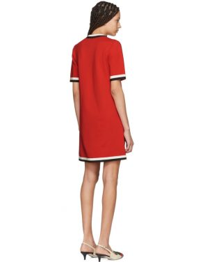 photo Red Striped Piping Dress by Gucci - Image 3