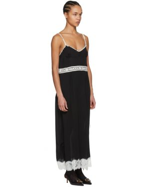 photo Black Lace Logo Slip Dress by Gucci - Image 2