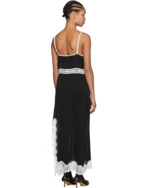 photo Black Lace Logo Slip Dress by Gucci - Image 3