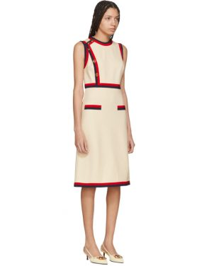 photo Beige Sleeveless A-Line Dress by Gucci - Image 2