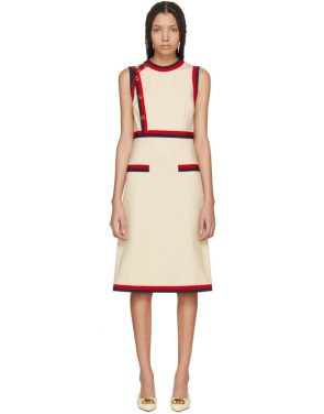 photo Beige Sleeveless A-Line Dress by Gucci - Image 1