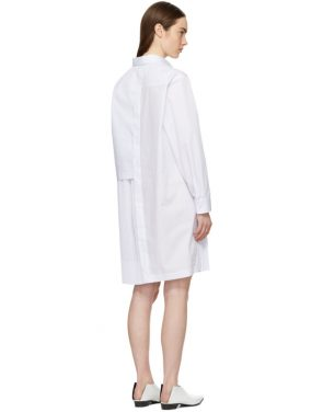 photo White Layered Shirt Dress by Cedric Charlier - Image 3