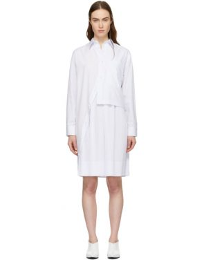 photo White Layered Shirt Dress by Cedric Charlier - Image 1
