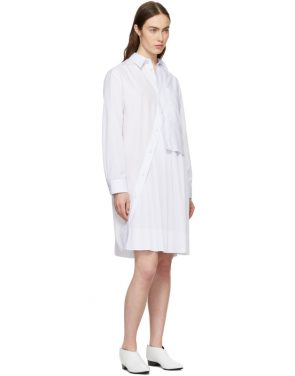 photo White Layered Shirt Dress by Cedric Charlier - Image 5