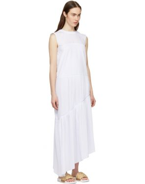 photo White Ruffle Asymmetric Dress by Cedric Charlier - Image 2