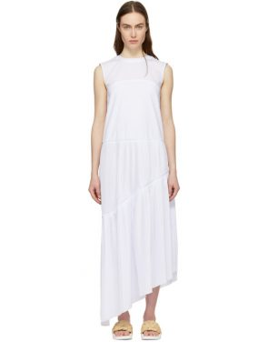 photo White Ruffle Asymmetric Dress by Cedric Charlier - Image 1