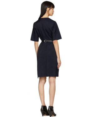 photo Navy Contrast Asymmetric Dress by Stella McCartney - Image 3