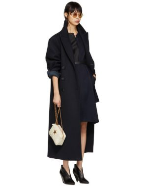 photo Navy Contrast Asymmetric Dress by Stella McCartney - Image 5