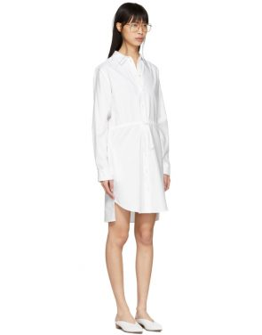 photo White Gathered Shirt Dress by Stella McCartney - Image 2