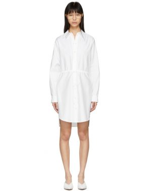 photo White Gathered Shirt Dress by Stella McCartney - Image 1