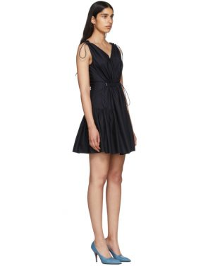 photo Navy Drawstring V-Neck Dress by Stella McCartney - Image 2