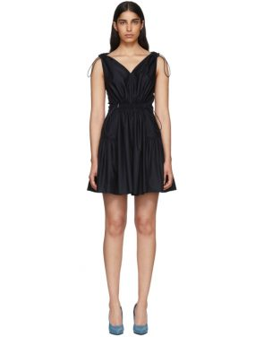 photo Navy Drawstring V-Neck Dress by Stella McCartney - Image 1